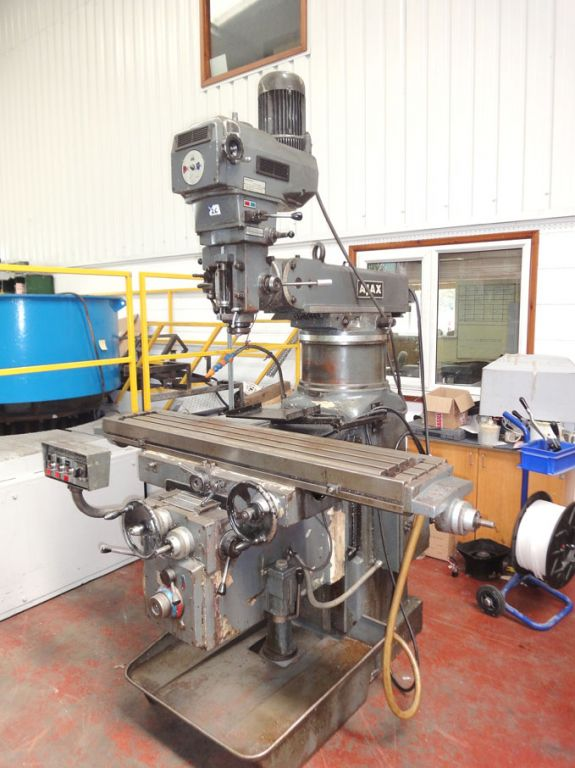 Late Addition: Ajax turret milling machine, 52x11&...
