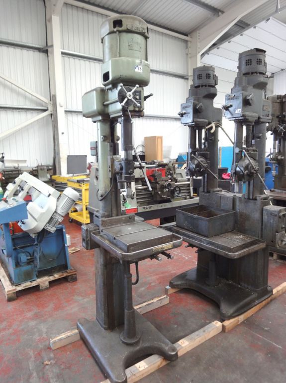 Late Addition: Herbert single spindle pillar drill...