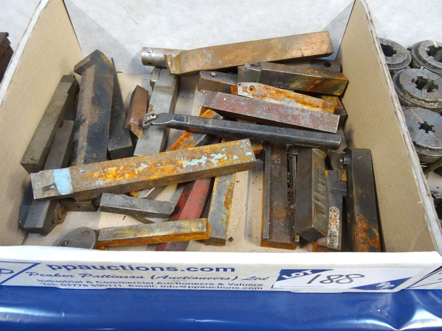 Qty various turning tools & tip turning tools