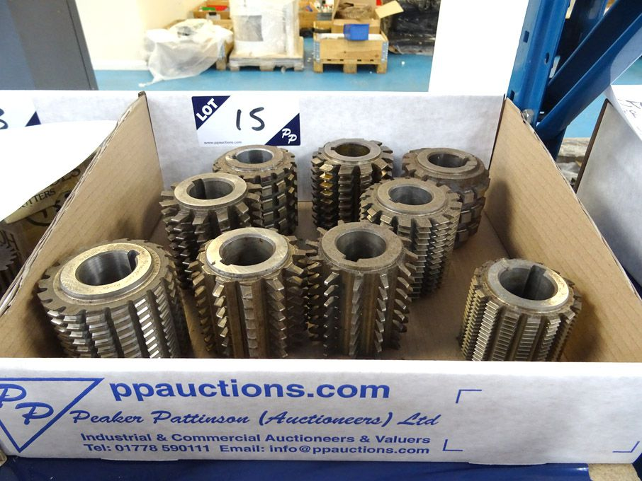 Qty various gear hobs & spines etc - Lot Located a...