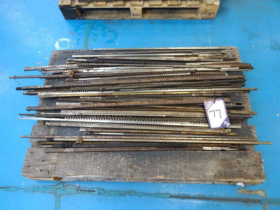 Qty various sized Keyway broaches on pallet - Lot...